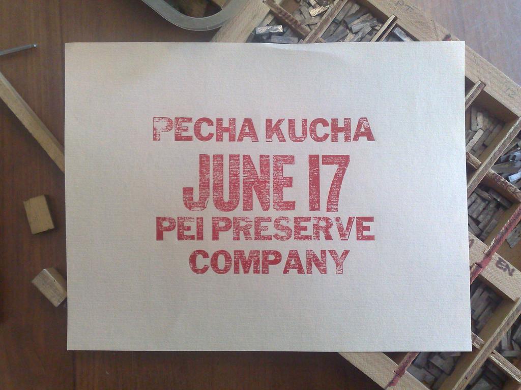 Pecha Kucha Test Print #1