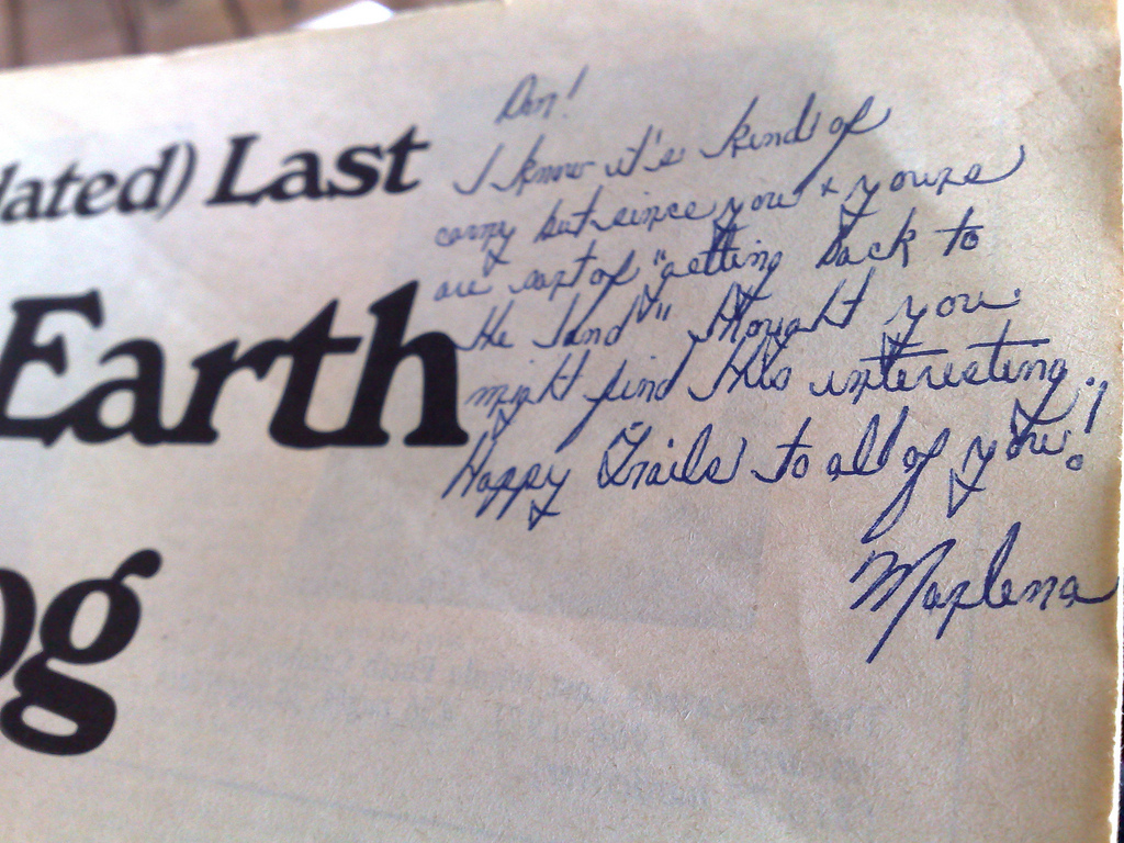 The (Last) Whole Earth Catalog Dedication