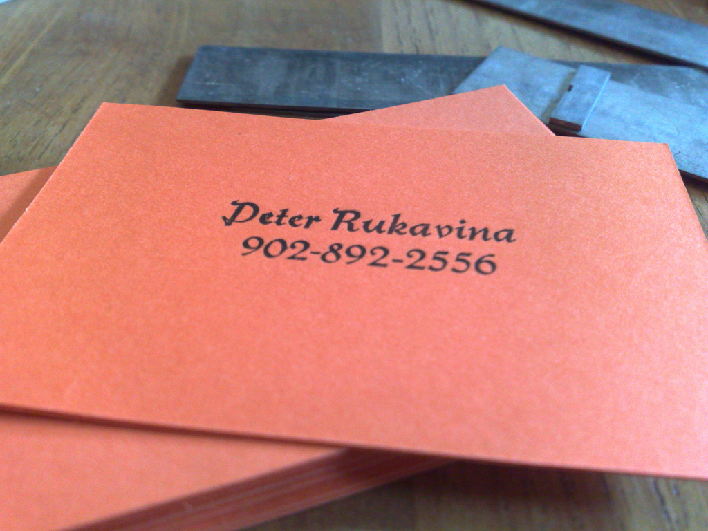 My First Letterpress Job