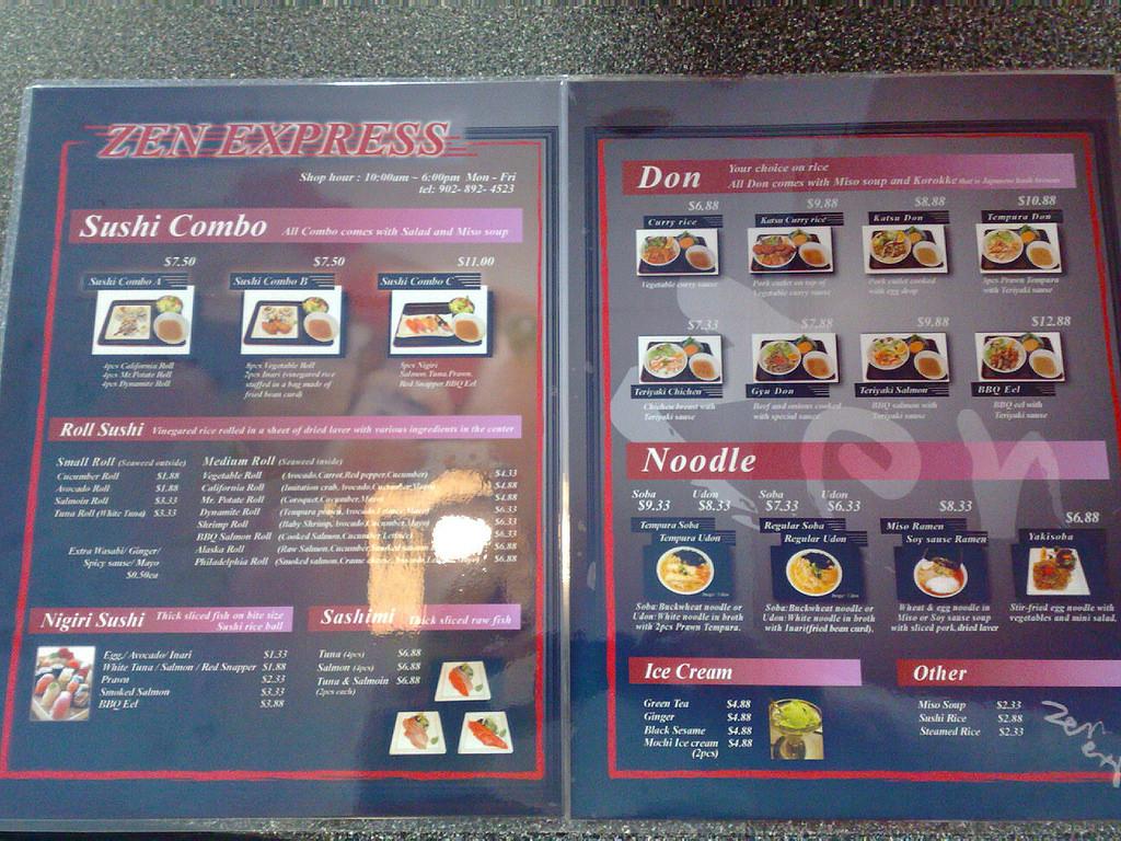 Zen Sushi Express Menu