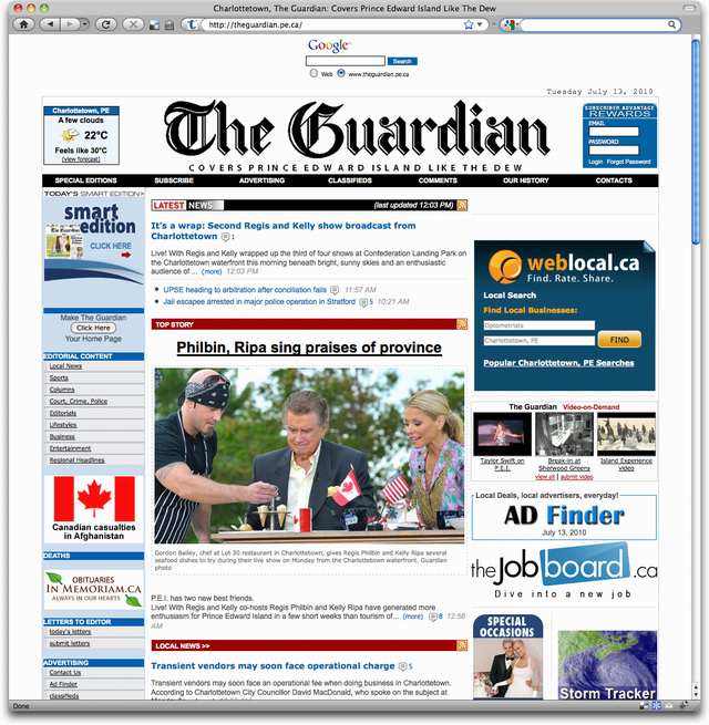 The Guardian: Before Redesign
