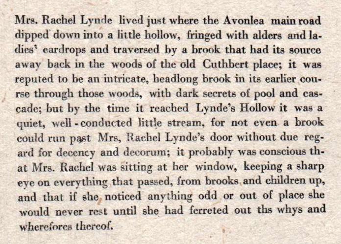 Mrs. Rachel Lynde (Getting Better)