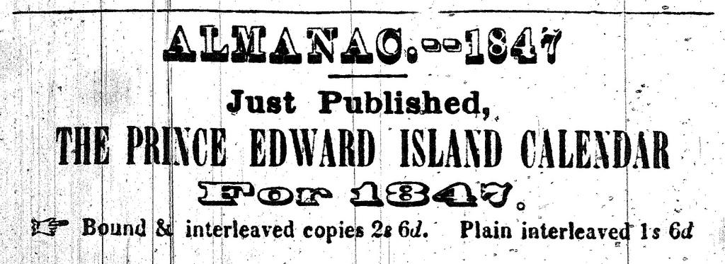 Almanac for 1847