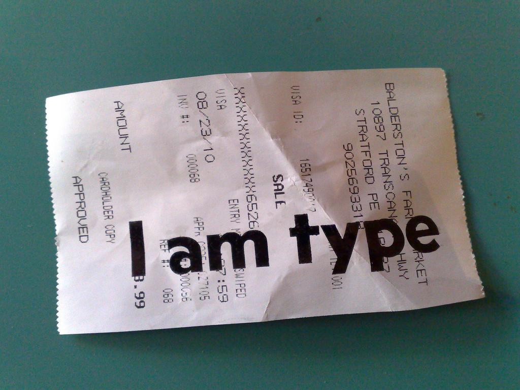 Printing on Receipt