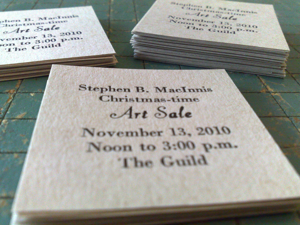 Stephen B. MacInnis Art Sale Card