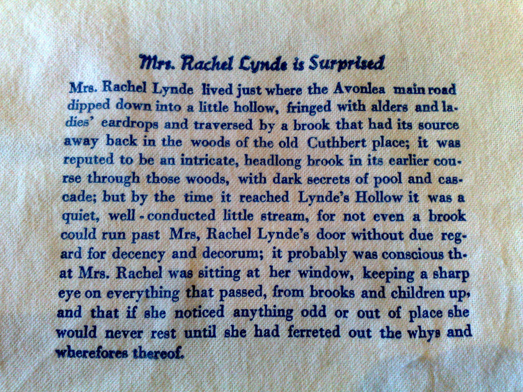 Mrs. Rachel Lynde on Fabric