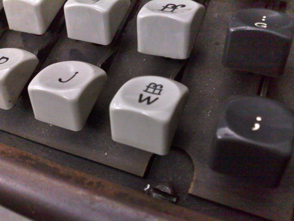 Linotype Keyboard Detail