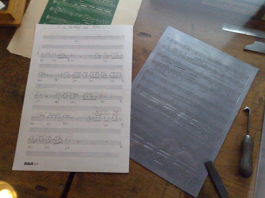 Sheet Music Engraving Display