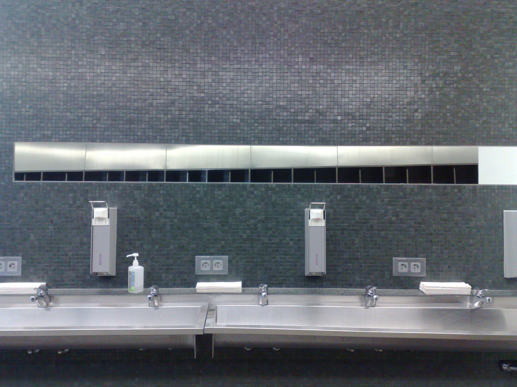 Zaha Hadid Fire Station Washroom