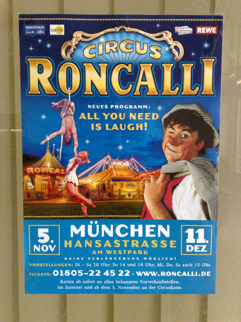 Circus Roncalli Poster