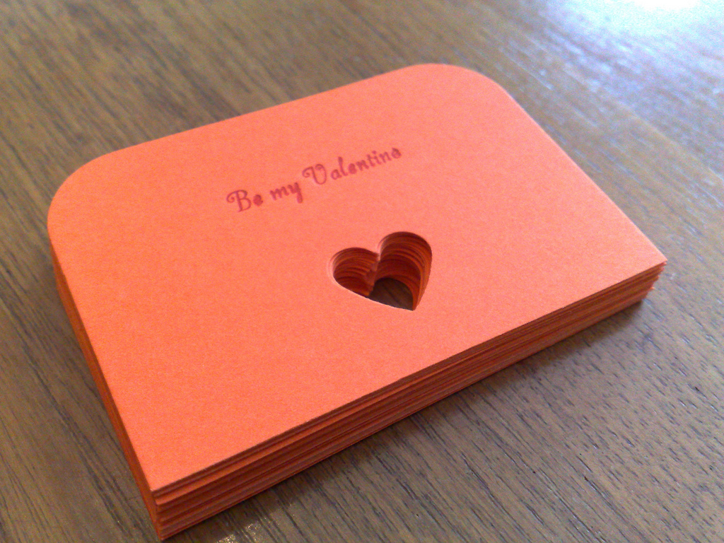 Printed and Punched Valentines