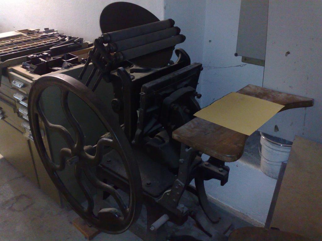Letterpress at Druckwerkstatt