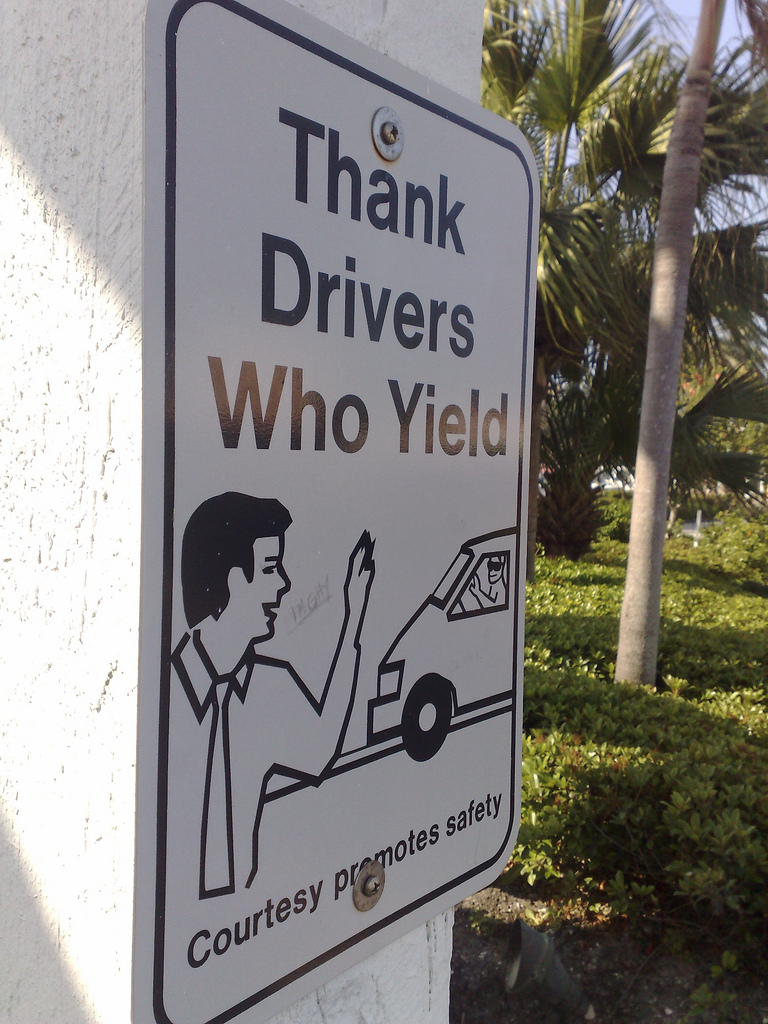 Thanks Drivers Who Yield