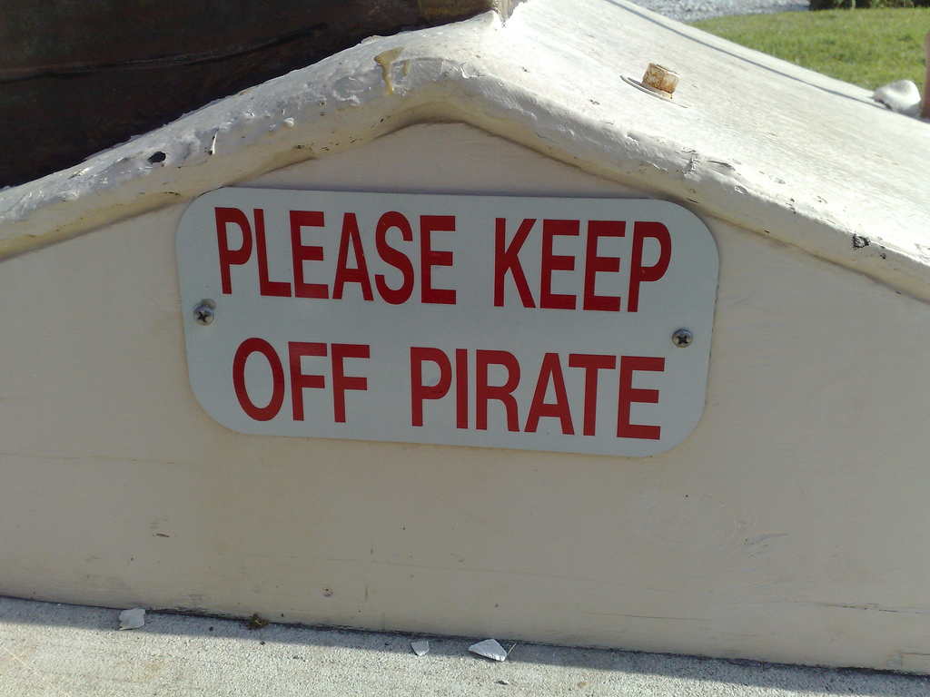 Please Keep Off Pirate
