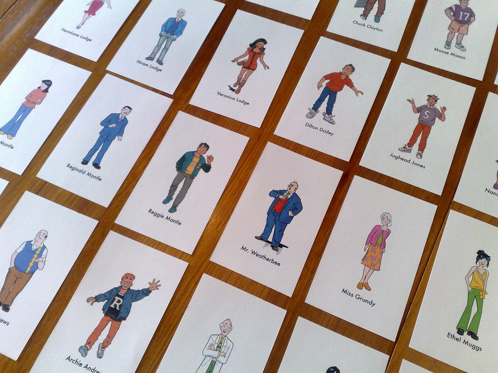 Characters on Cards