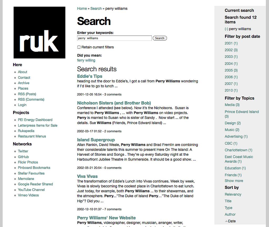 Apache Solr Search on ruk.ca