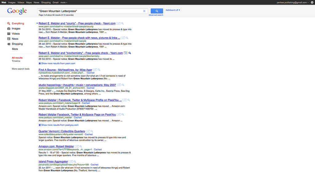 Google Redesign Launched Mid-Search (After)