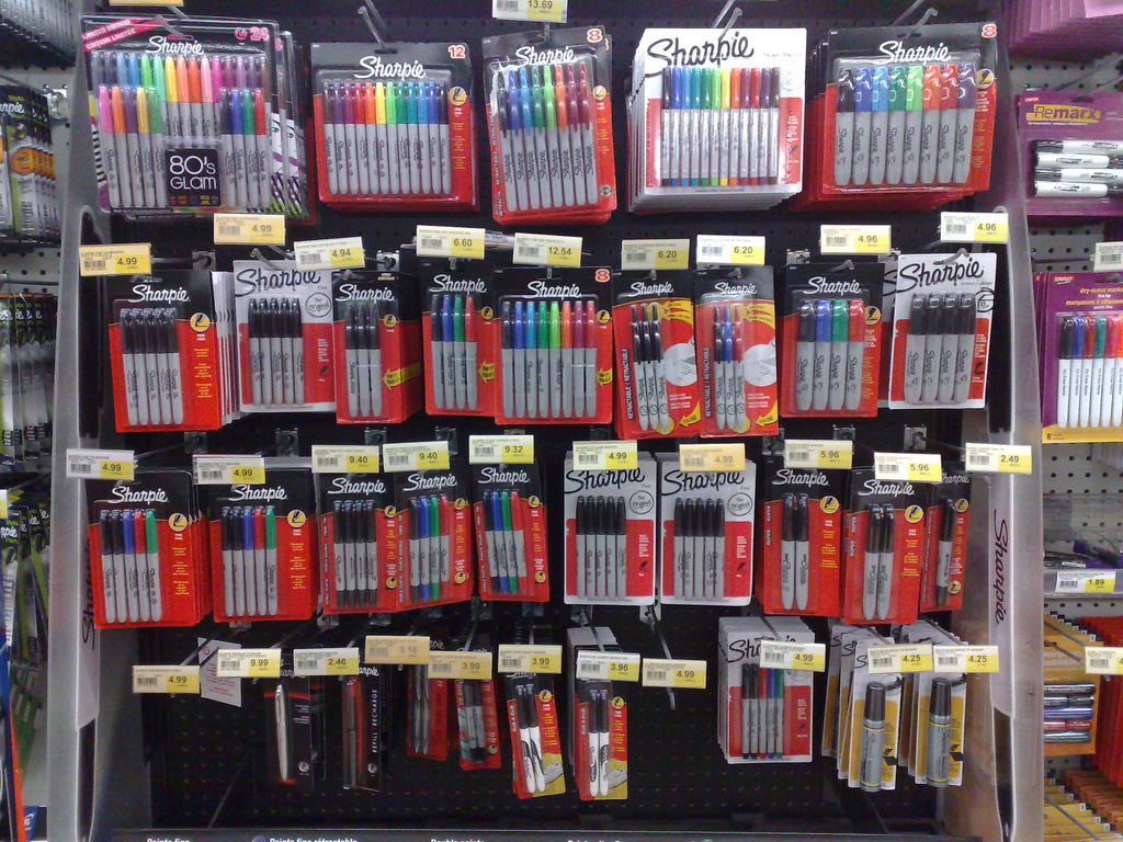 Sharpie Display at Staples