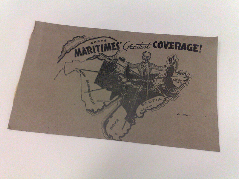 CFCY Coverage Map, 1947