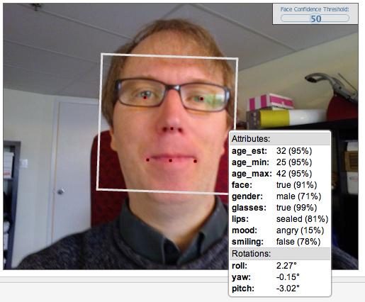 Face.com Test on My Face