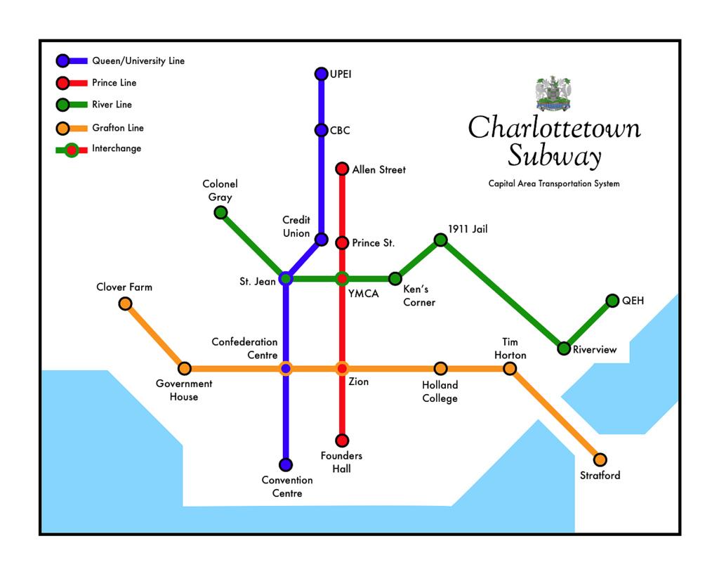 Charlottetown Subway Map, Refined