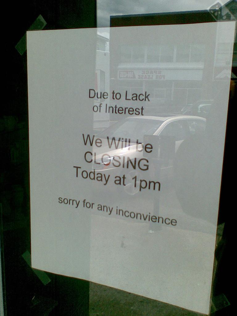 Lack of Interest