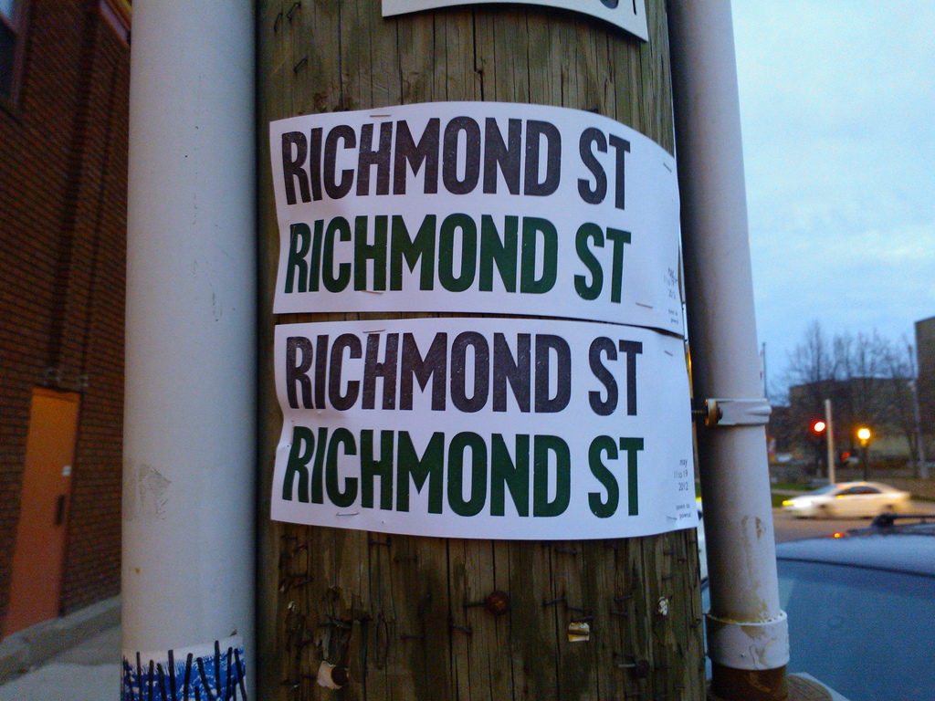 Richmond St Poster In Situ