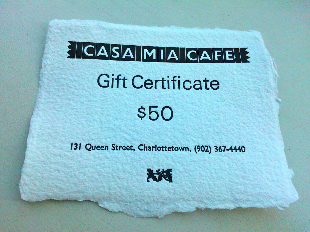 Casa Mia Gift Certificate