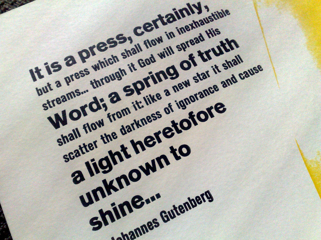 Gutenberg Quotation