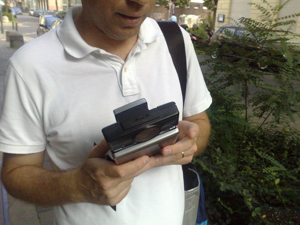 Pedro + Polaroid Camera