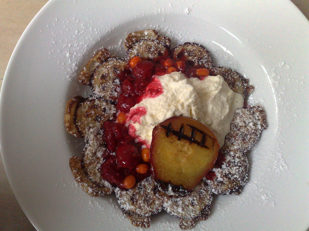 Waffles with Grilled Nectarines in Malmö