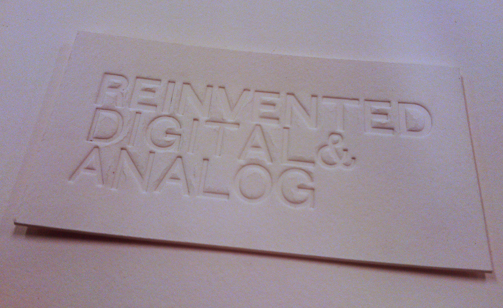 Printing Without Ink: Sign for the Reinventorium