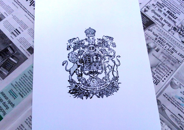 Arms of Canada Print