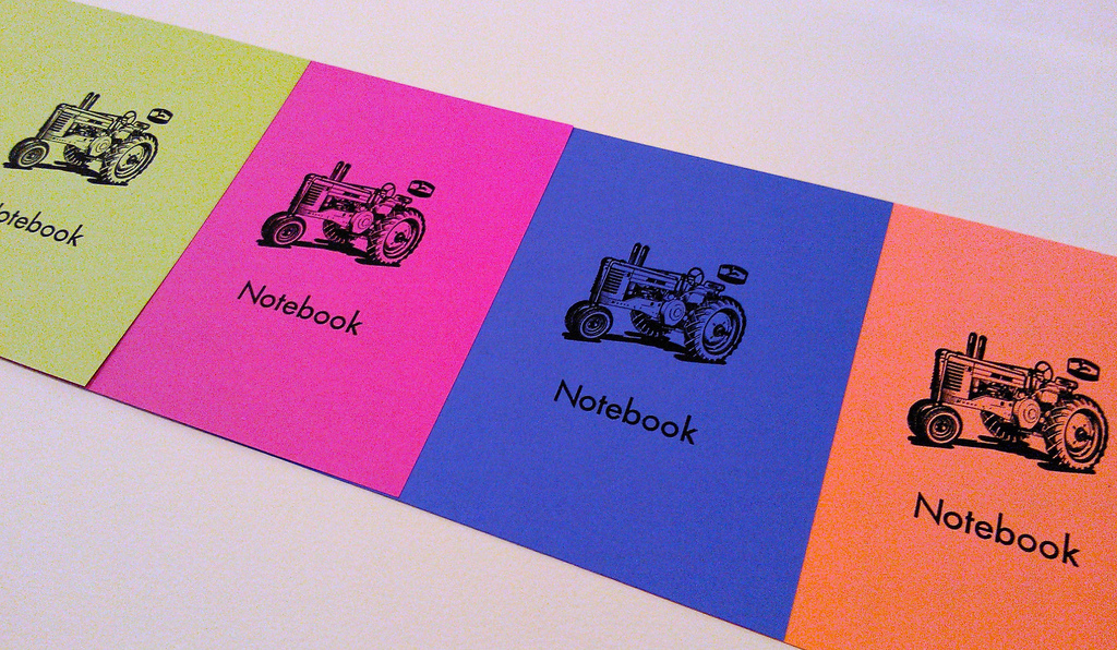 Tractor Notebook Colours