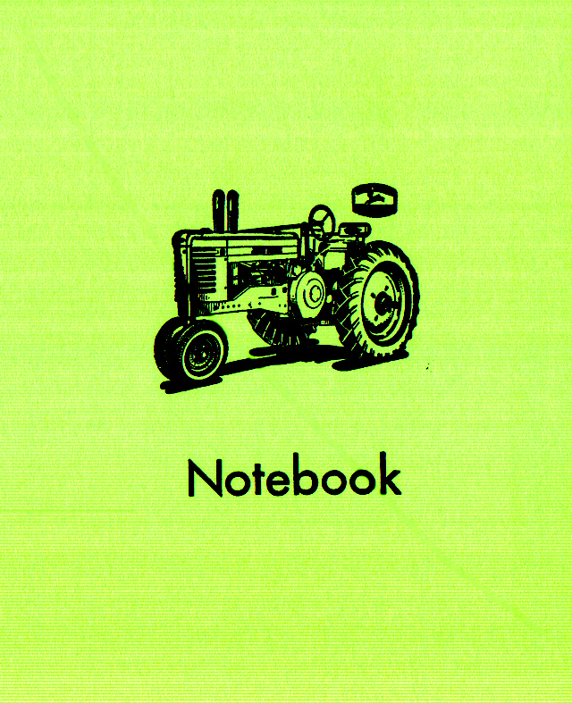 Green Tractor Notebook Cover