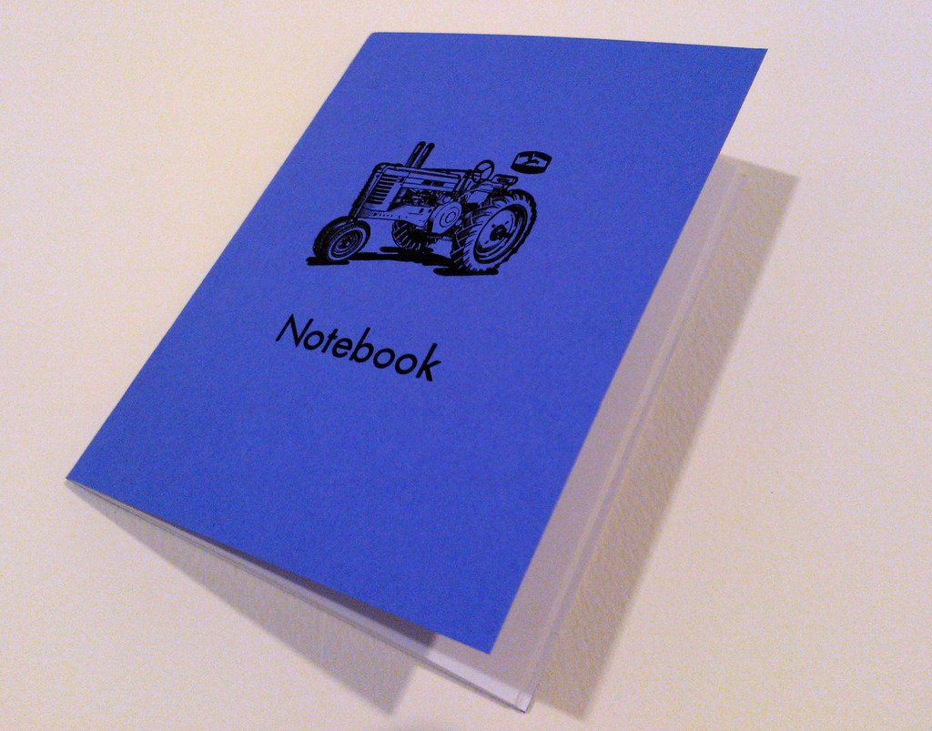 Purple Tractor Notebook