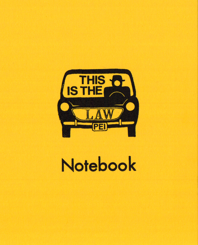 Yellow Car Notebook Cover