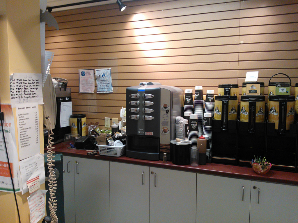 New Coffee Machine at Samuel's in Robertson Library