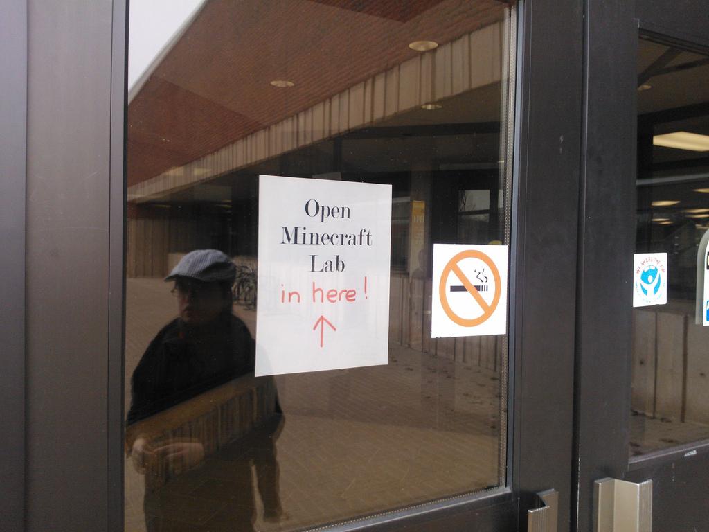 Open Minecraft Lab Sign