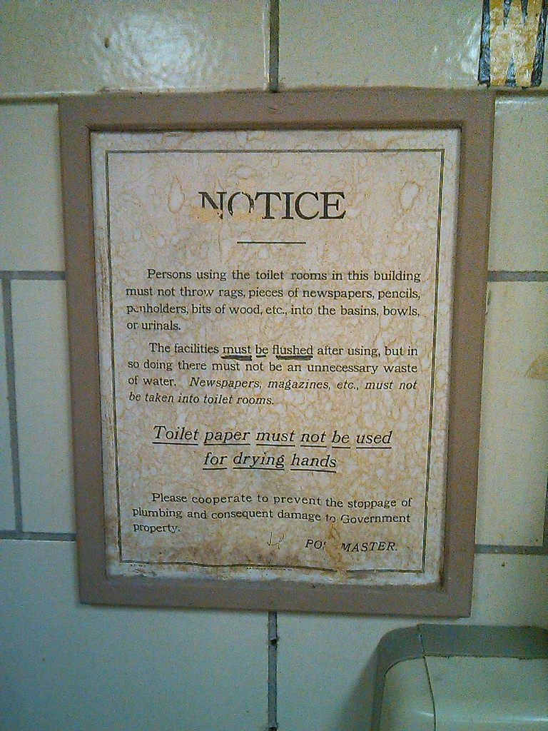 Washroom Notice