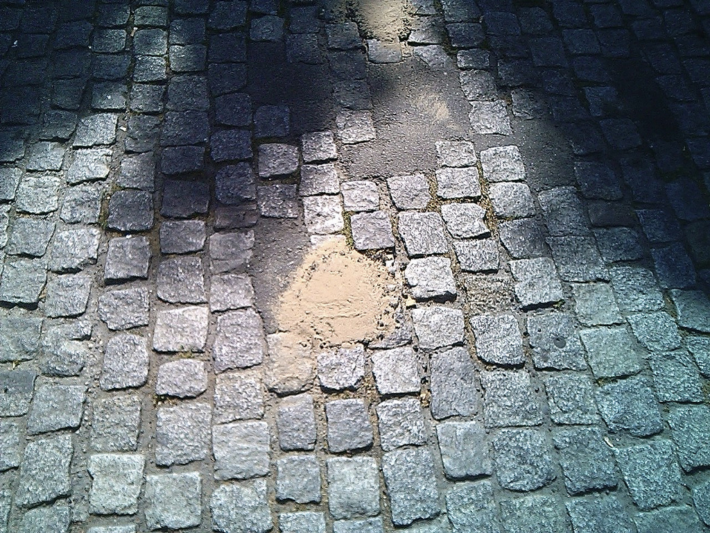 Patching Pavement in Berlin