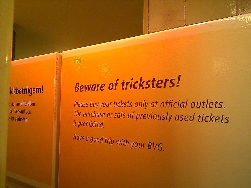Beware of Tricksters!