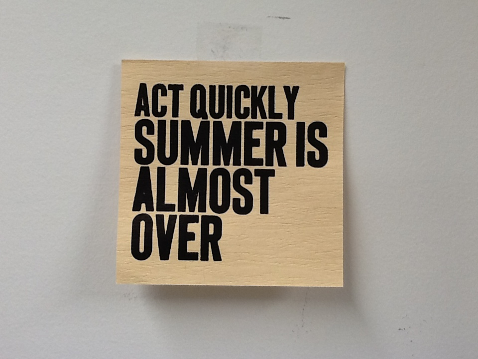 Act Quickly: Summer is Almost Over