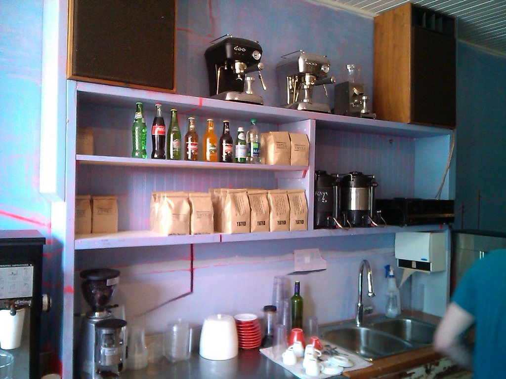 Coffee Bags on the Shelf