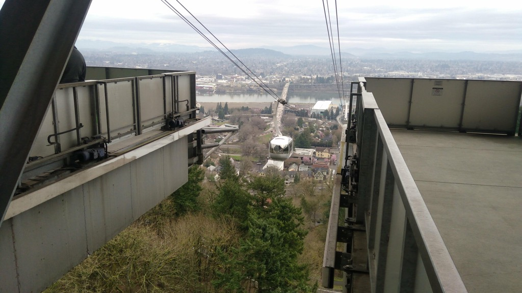 Gondola at OHSU from the top.