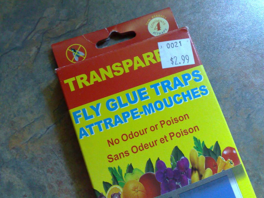 Transparent Fly Glue Traps