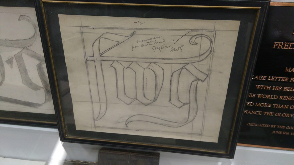 Goudy's FWG monogram
