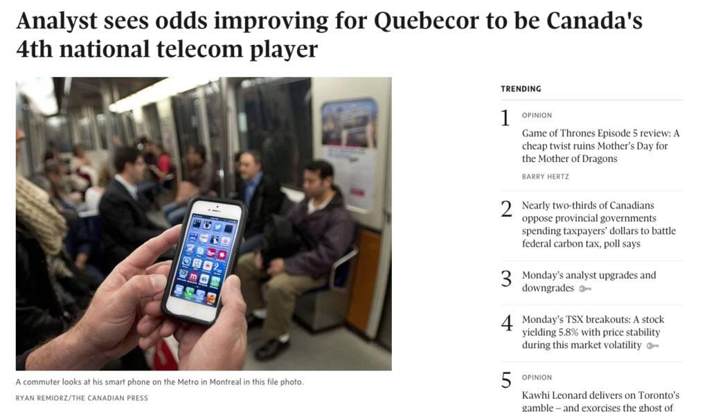 Globe and Mail screen shot