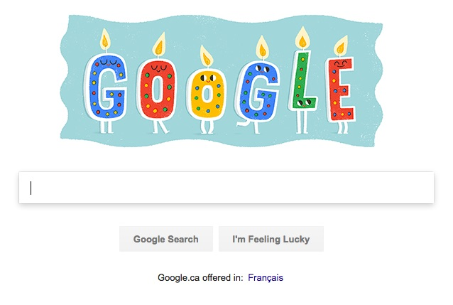 Google.com with my birthday doogle