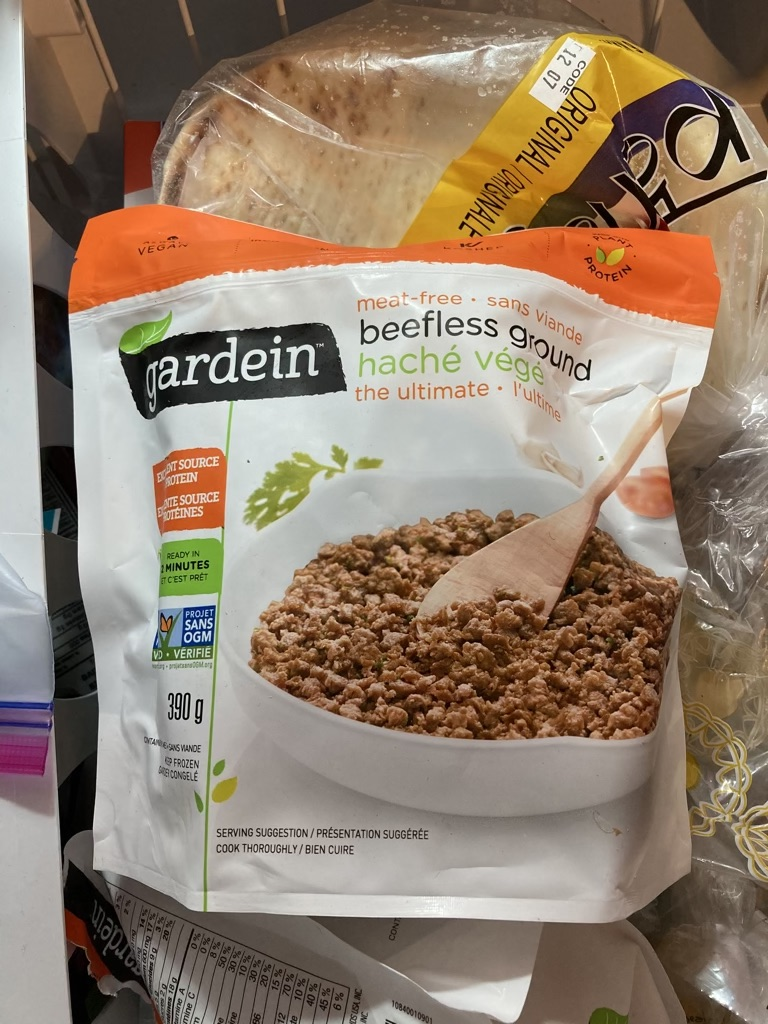Photo of a package of Gardein Beetles Ground